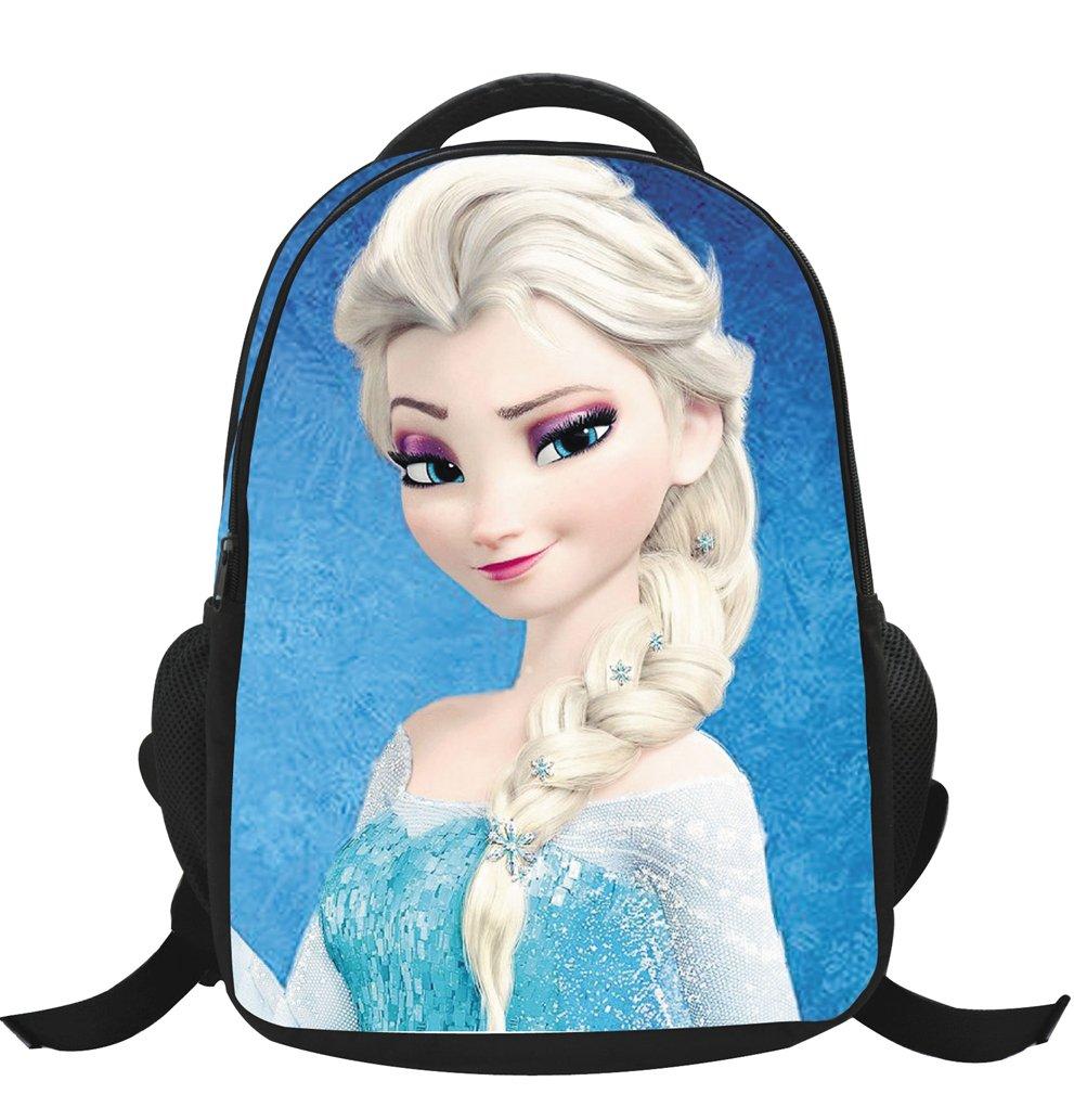 MissFox Zainetto Asilo Ragazze Zaino Frozen Principesse Anna E Elsa E Olaf Backpack School Bag A5
