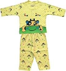 Lilsugar Baby Boys Yellow Full Sleeves Night Suit