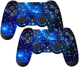 Elton PS4 Controller Designer 3M Skin for Sony PlayStation 4 , PS4 Slim , Ps4 Pro DualShock Remote Wireless Controller - Shinny Blue , Skin for One Controller Only