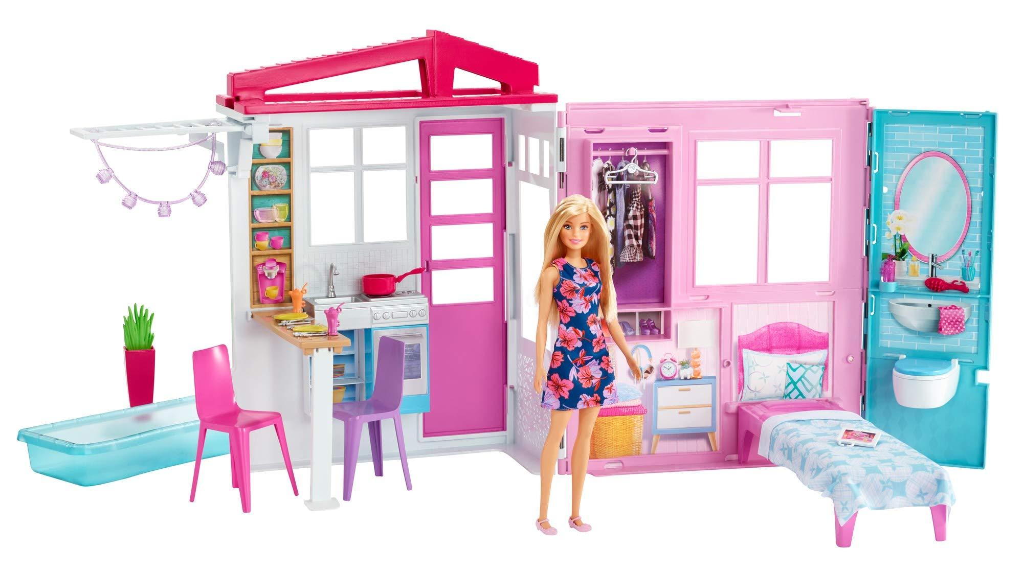 Barbie – Casa de Muñecas con Muebles y Accesorios, Juguete +3 Años (Mattel FXG55)