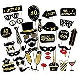 Veewon 40 ° Compleanno della Foto del Partito della Foto Props Unisex Divertente 36pcs Kit DIY Adatto per la Sua o la Sua Cel