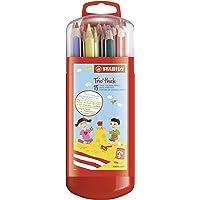 Crayon de coloriage - STABILO Trio - Étui Zebrui x15 crayons de couleur triangulaires - Coloris assortis