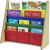 Callas Kids Book Rack Storage Bookshelf, Natural/Primary (Primary Collection)