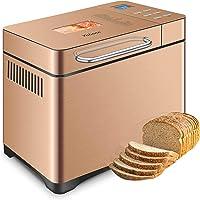 Yabano Acier Inox Machine à pain avec Distributeur de Fruits à Coque, 19 Programmes Automatiques Machines à Pain 1kg…
