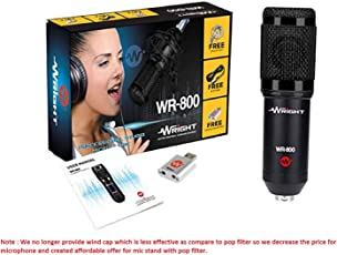 Wright WR 800 Condenser Microphone (Black)