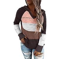 ANFTFH Pullover Damen lässiger Hoodie Pullover mit Kordelzug Sweatshirt