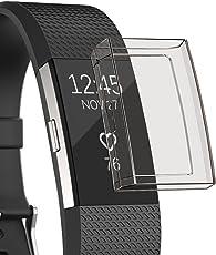 Sun studio Schutz für Fitbit Charge 2, TPU Weich Stoßfest Anti-Kratz Fitbit Schutzhülle Ersatz Protection Zübehor Fitbit Charge 2 Schutzhülle