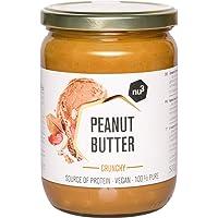 nu3 - Beurre de cacahuète croquant (Peanut Butter) 500g 100% beurre d'arachide crunchy - Naturellement protéiné sans sucre sans sel et sans huile de palme ajoutés - Délicieux en tartines ou en cuisine