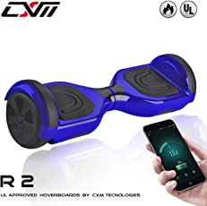 "CXM R2-Hoverboard UL 2272 Certified Self Balancing Electric Scooter 6.5"" for Adult and Kids with LED Light and App (Blue)"