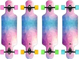 Jan Banan Longboard Komplett Boards Cruiser Longboards für Anfänger, Einsteiger, Jungen, Mädchen und Profis in Verschiedenen Designs