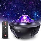 Lampe Projecteur LED Étoile, Projecteur de Veilleuse Rotatif avec 21 Modes & Télécommande & Timer & Enceinte & Bluetooth, Pro