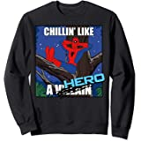 Marvel Spider-Man Chillin' Like A Hero Cross Out Portrait Sweatshirt