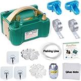 PartyWoo Balloon Pump, 220V-240V 600W Electric Balloon Pump, Balloon Pump Electric, Electric Balloon Inflator, Portable…