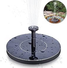 solawill Solar Springbrunnen, Solar Teichpumpe mit 1.4W Monokristalline Solar Panel Solar Wasserpumpe Solar schwimmender Fontäne Pumpe für Gartenteich oder Springbrunnen Vogel-Bad Fisch-Behälter