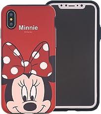 New Disney MINNIE CARTOONS trasparente Cartoons character and others trasparente in poliuretano termoplastico per iPhone-Cover per Apple iPhone 7, 8, 7PLUS & 8PLUS plastica, (iphone X, MINNIE 1)