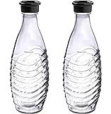 SodaStream 1047200490 Carafe en Verre, 2 x 0,6 L, Pour Carbonateurs Cristal