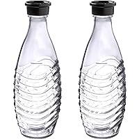 SodaStream DuoPack Glaskaraffe, Ersatzflaschen geeignet für die SodaStream Wassersprudler Crystal und Penguin, 2x 0.615…