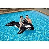 Intex Whale Ride-on Floating Raft, Black [58561]
