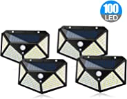 ADDCOOL Solar Light Outdoor 100 LED Waterproof Security Wall Night Light with Motion Sensor 270° Wide Angle for Pathway Porc