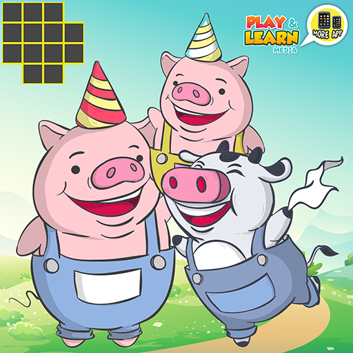 ★★★ Three Little Pigs - Preschool games for little kids, fun educational games for small children brain puzzle! ★★★
