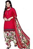 TryMode Women's Crepe & Chiffon Salwar Suit (TYM_1055_D_Red_Free Size)
