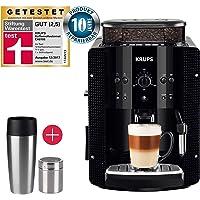 Krups Kaffeevollautomat Arabica Picto 15 bar 1450 W + EMSA Travel Mug + Edelstahl Kakaostreuer (automatische Reinigung, 2-Tassen-Funktion, Milchsystem mit CappucinoPlus-Düse, Kaffeemaschine, Espresso