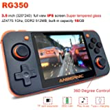 2019 Upgraded Opening Linux Tony System Handheld Game Console with 64Bit 3.5inch IPS Screen , Retro Game Console with 32G TF Card Built in 2500 Classic Games Portable Video Game Console (Black)