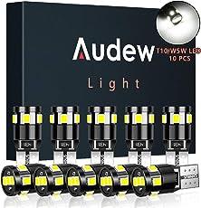 Audew T10 Auto LED Standlicht Innenbeleuchtung Auto LED Innenraumbeleuchtung 9 * 2835 SMD LED Canbus Fehlerlose 4882K Xenon Weiß 10 Stücke