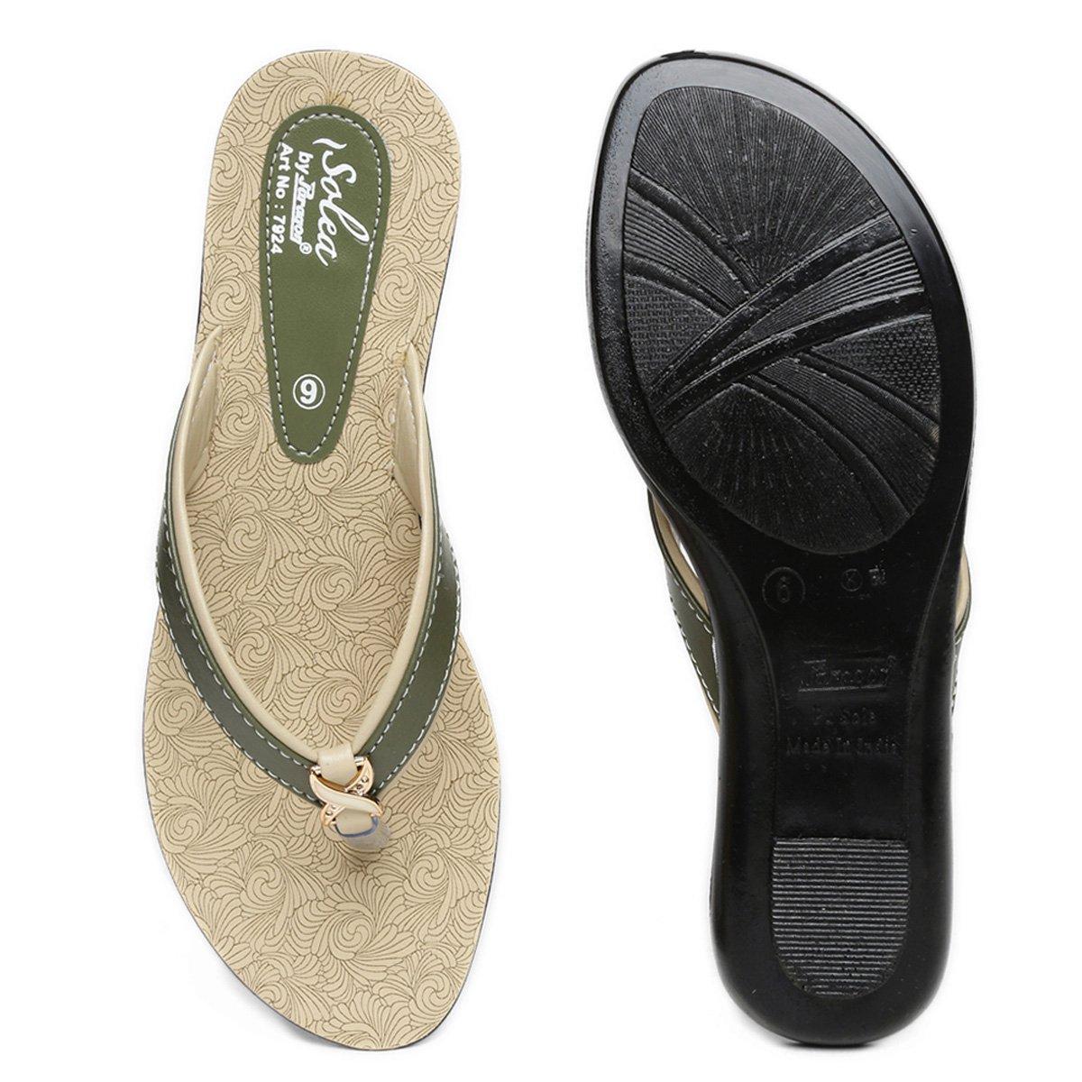 5c9397e16e176 PARAGON SOLEA Women's Green Flip-Flops - Ratzz Collection | Best ...