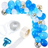 Party Propz Blue White Balloons Garland Arch Kit Decoration - 113Pcs For Boys