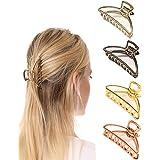 Confezione da 4 fermagli per capelli Artigli per capelli in metallo Accessori per capelli da donna per ragazze
