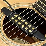 Gitarre Tonabnehmer pickup,12 Löcher Pick up für Akustik Gitarre Westerngitarren Konzertgitarre Mit 3 Meter Kabel Gitarrenzubehör
