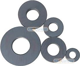 5 Big Ring Magnets Ferrite/Ceramic Magnet Different Size 5pcs
