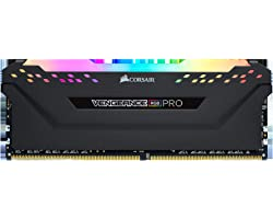 Corsair Vengeance Pro RGB - Módulo de 8 GB (1 x 8 GB) DDR4 3200 (PC4-25600) C16 1,35 V, optimizado AMD Ryzen, Color Negro
