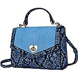 Toplive Umhängetaschen für Damen, Umhängetaschen für Damen Geldbörsen und Handtaschen Umhängetasche mit Griff,Blau