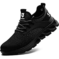 SUADEEX Chaussures de Sécurité Homme Femme Protection de la tête en Acier,Anti-crevaison Léger Respirante Chaussures de…