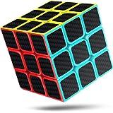 Cfmour Cubo de Mágico,Cubo de Velocidad 3x3x3, Fibra de Carbono Suave Magia Cubo, 3D Puzzle Inteligencia Mágico Speed Cubo, R