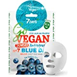 Vegan Face Sheet Mask Matcha Blueberry Agave Lotus Extract Organic Natural Ingredients Cruelty Free Tissue Mask For All Skin