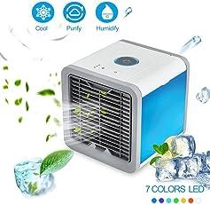 Arctic Air mobiles Verdunstungs Klimagerät Cool Luftkühler Befeuchter Ventilator mit USB Anschluß oder Netzstecker | Hydro-Chill Technologie | 3 Kühlstufen - 7 Stimmungslichter | Das Original von Mediashop
