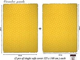 Saral Home Soft Cotton Unique Firki Design Tufted Throw/Sofacover Set of 2 Pc -140x125 cm