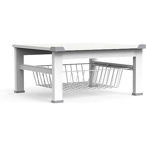 Meliconi Base Space, rialzo di 30 cm per lavatrice/asciugatrice o altro elettrodomestico con cestello estraibile, colore bianco