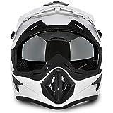 Vega Offroad Gloss White Men's Full Face Helmet