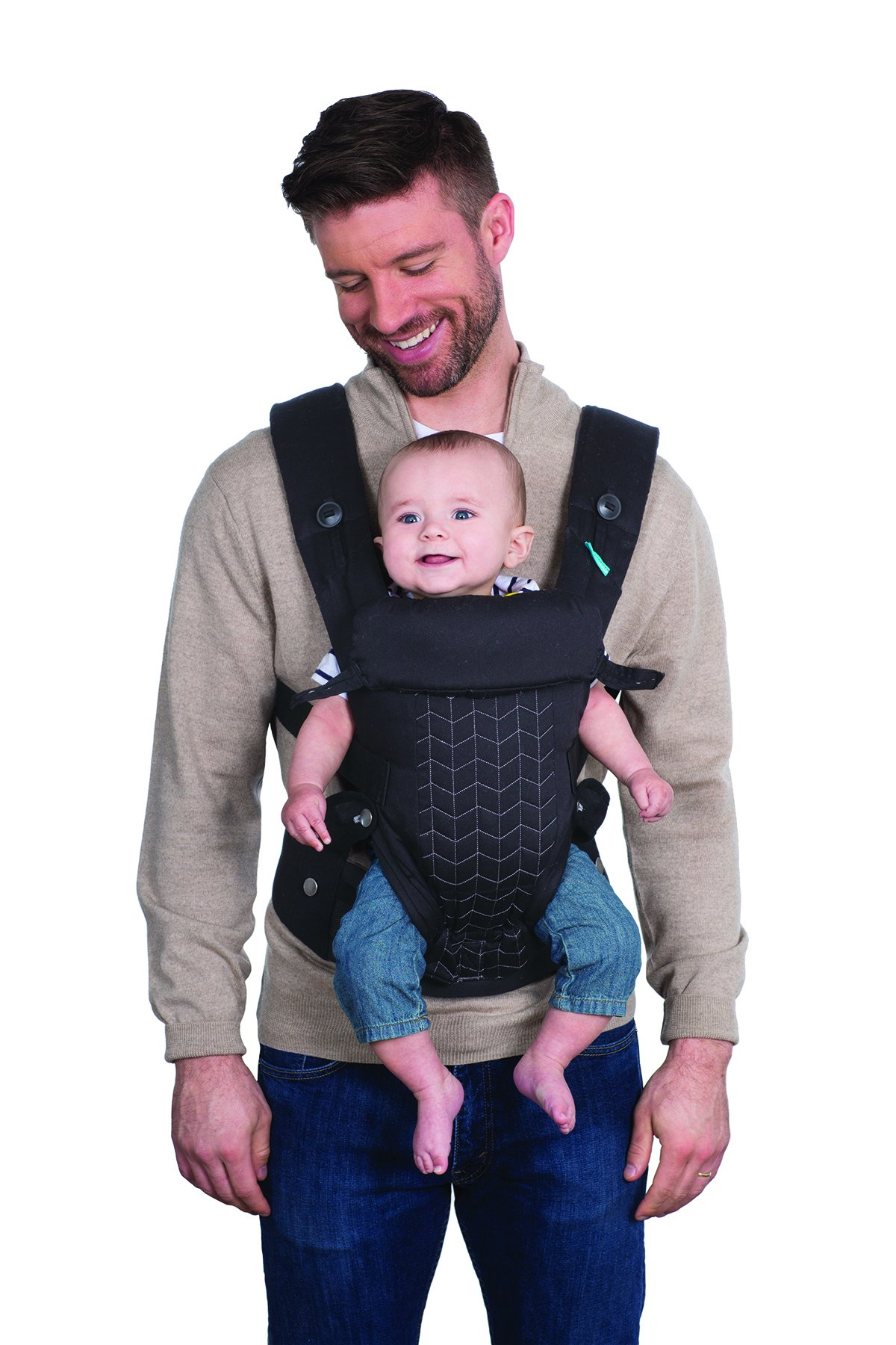 Infantino Upscale Carrier, Black, One Size Infantino Fully safety tested 4 way carrier Facing in newborn & m position 6