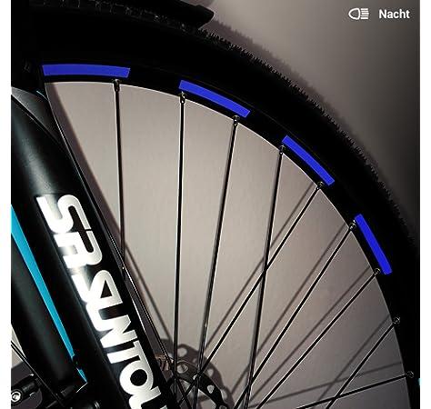 1* Fahrrad Reflektierende Aufkleber Mountainbike Rad Reflexstreifen Aufkleb