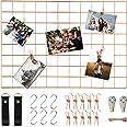 WUZILIN - Estante de Rejilla de Pared para Manualidades, de Hierro, para Colgar Fotos en el tablón de Notas, en la Familia, C