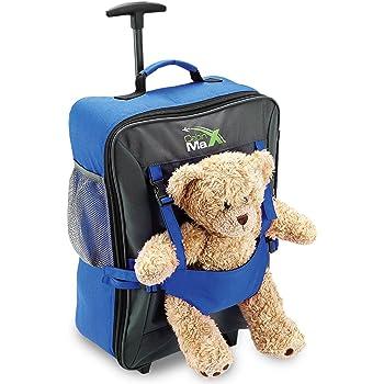 Cabin Max – Sac à roulettes pour enfant et pour son ours en peluche - Bleu