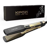 KIPOZI Piastra Capelli Professionale, Piastra Larga in Titanio con Display Digitale LCD, Adatta a Tutti i Tipi di…
