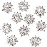 10pcs Adornos Joyas Botones Cristal Diamante de Imitación Flores de Girasol 30mm