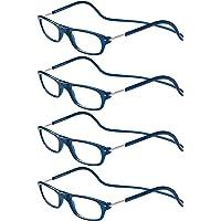 TBOC Occhiali da Vista Lettura Presbiopia - [Pack 4 Unità] Montatura Blu Graduati +1.00 Diottrie Regolabili Pieghevoli…