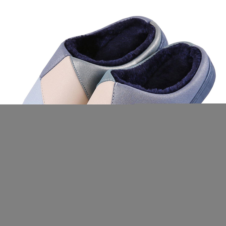Piqûre coton pantoufles à domicile-hiver épais peluche Chaud Neige Bootie  Chaussures: Amazon.fr: Chaussures et Sacs